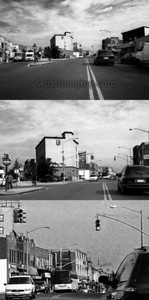 3 zoom levels of Jamaica Avenue and 139th Street, October 10, 2009. Taken from the same place as this photo from 1943