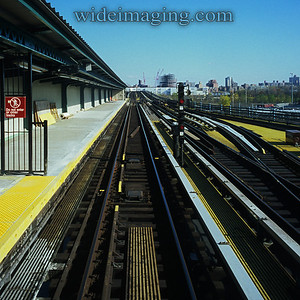 """View from Willets Point Station looking toward Flushing and """"Sky View Parc"""" under construction, November 11, 2008"""