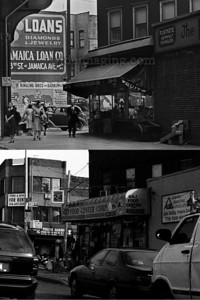 1943 to 2009 both images are details from the 2 overview photos in this gallery, show the South West corner of 139th Street and Jamaica Ave. Remarkably 66 years later the corner store is still a grocer and adjacent still sells roofing tiles.