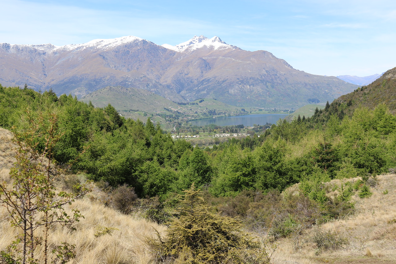 Lake Hayes and The Remarkables from Big Hill Track