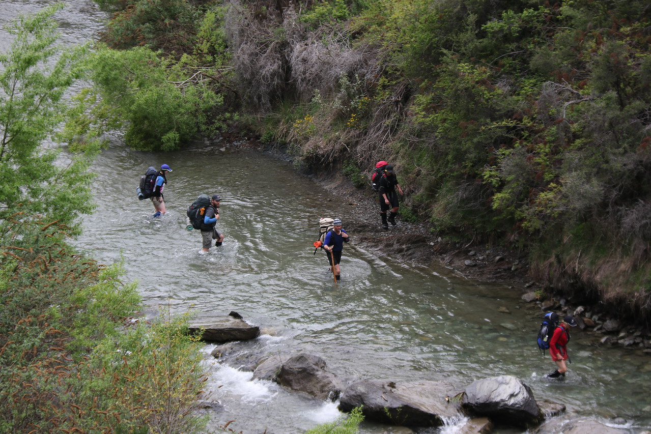 Trampers in the Arrow River