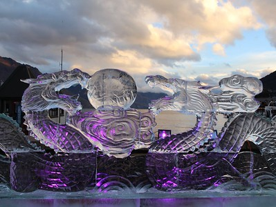 Winter Festival Ice Sculpture