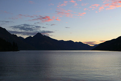 Evening sets upon Queenstown