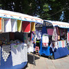 Kiosks In Almealco, Filled With The Handicrafts Of The Local People