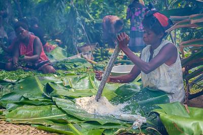 Vanuatu, Tanna, Middle Bush, Lounahuru, Women Cooking