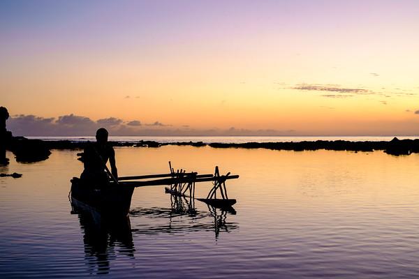 Vanuatu, Tanna, Canoe at Sunset 2