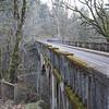 An old narrow bridge on Highway 30 at the falls