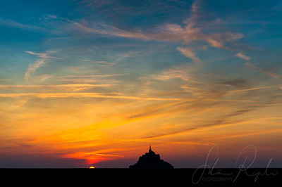 Sunset in Mont St. Michel