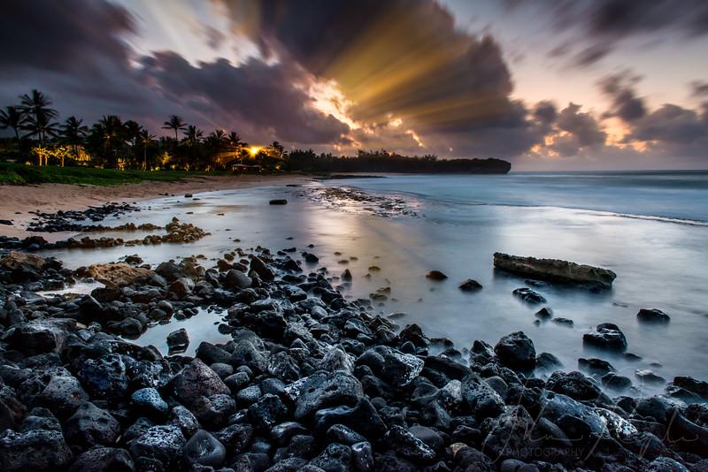 Sunrise at Poipu beach