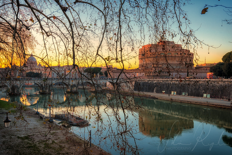 Winter sunset in Rome