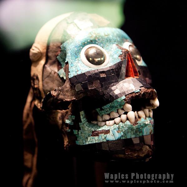 Mask with human teeth