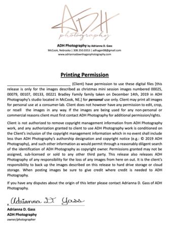Bradley Print Release