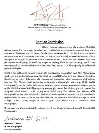 Porter Print Release