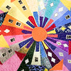 """The Fitchburg Senior Center is hold a three day quilt exhibition at their center that started Tuesday, August 20, 2019. This quilt in the show is by Lauretta Conlon and called """"Neighborhood."""" SENTINEL & ENTERPRISE/JOHN LOVE"""