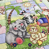 """The Fitchburg Senior Center is hold a three day quilt exhibition at their center that started Tuesday, August 20, 2019. This quilt in the show by Doris Vaillancourt was made in 1987 and called """"Jungle Happiness."""" SENTINEL & ENTERPRISE/JOHN LOVE"""