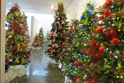 a view of the christmas trees