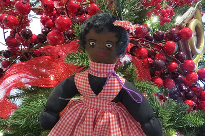 granny yount doll with gingham jumper
