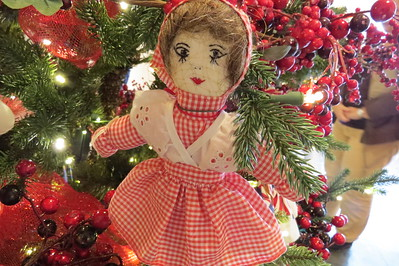 granny yount doll with gingham skirt