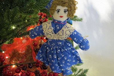 granny yount doll with blue dress