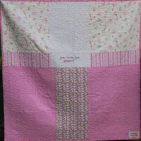 Joan's Baby Quilt back