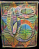 Squared Illusion 6 by Gloria Hansen, SAQA Color Wheel of Emotions