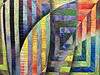 Detail of Squared Illusion 6 by Gloria Hansen, SAQA Color Wheel of Emotions
