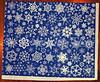 my blue Spoonflower snowflake fabric