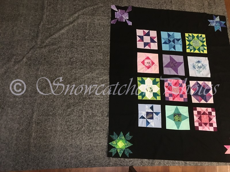 enough wide backing for two quilts