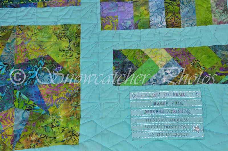 the prettiest quilt label ever