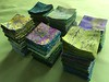 green batik postage stamps