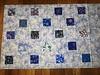 alternating blocks, larger blocks of focus fabric