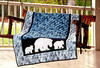 1995 Three bear quilt on swing at Sam Houston statue sight near Huntsville, Texas.