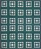 1987 Queen size churn dash quilt.