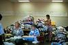 1993 Sisters, Oregon quilt show pile of quilt entries.
