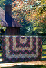 1990/11 Sarah's log cabin quilt in east Texas.