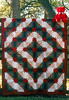 1996 Colorado log cabin queen quilt with red teddy bear in La Grange, Texas.