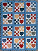 1987 Nine patch and hearts baby quilt for Alex McCutchen