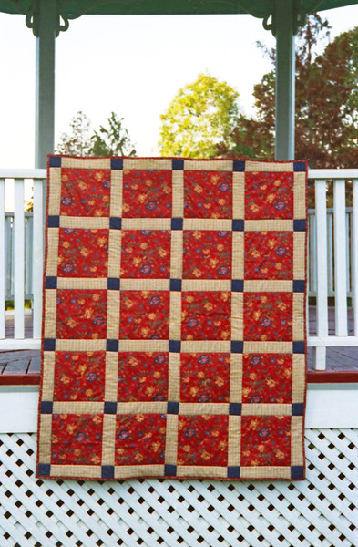 1996 Floral squares lap quilt for Kinsey Rowe
