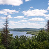 View over Great Averill Pond from atop Averill Mountain