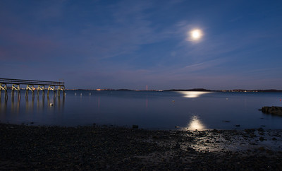 Quincy Pier in Super Full Moon