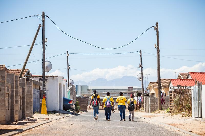 Quinton Fortune visit, GRS, Khayelitsha, Cape Town, SA, 19/02/2018