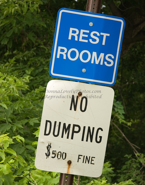 Rest Rooms, No Dumping