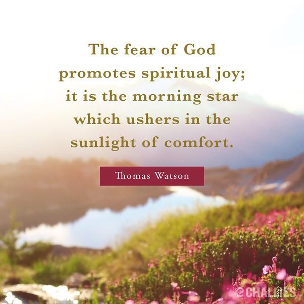 Thomas Watson on Fear of God