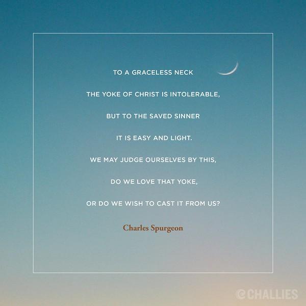 Charles Spurgeon on the Yoke of Christ