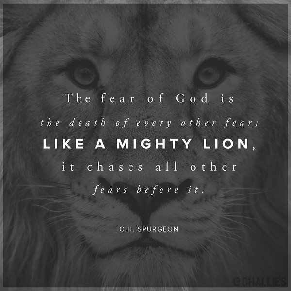 C.H. Spurgeon on Fear