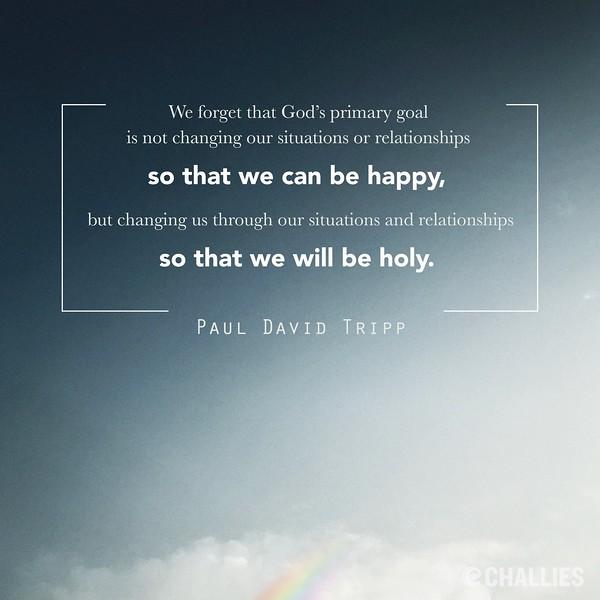 Paul David Tripp on Holiness
