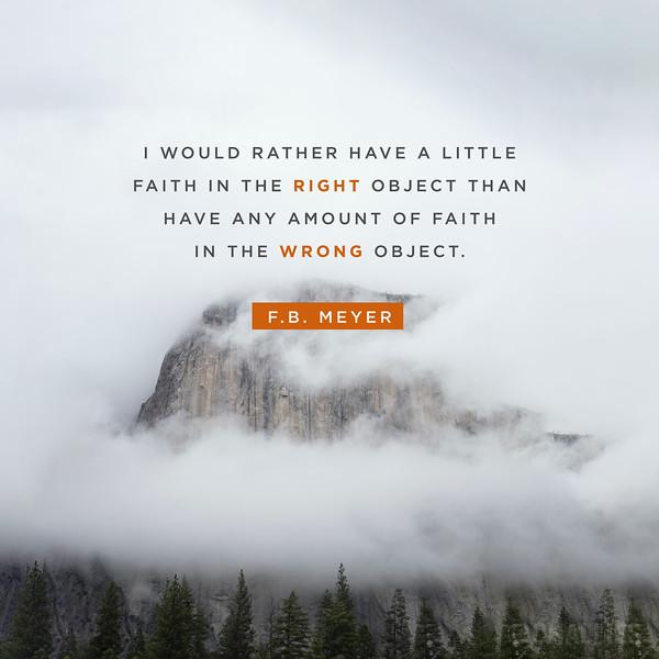 F.B. Meyer on Faith