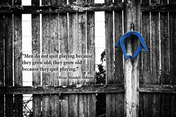 Men do not quit playing