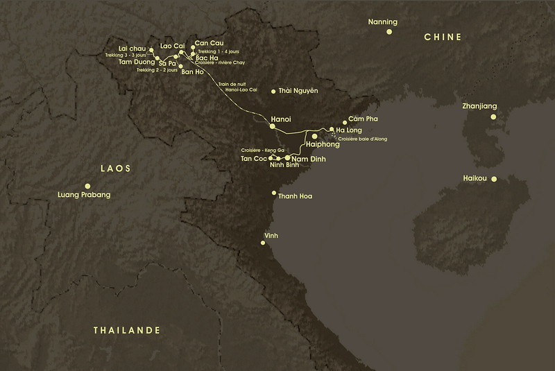 Carte du Vietnam