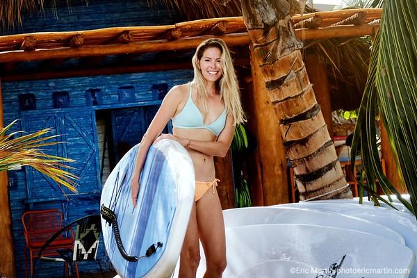 REPUBLIQUE DOMINICAINE. CLUB MED MICHES PLAYA ESMERALDA DANS LA BAIE DE SAMANA. Sophie, GM professeur de yoga et chanteuse